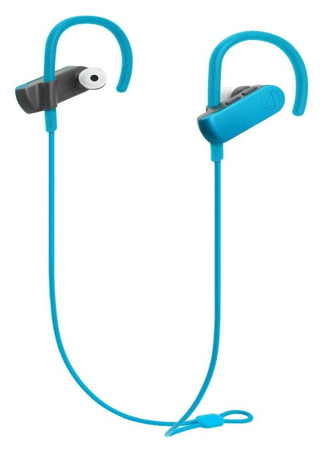 Audio Technica ATH SPORT50BT In-Ear Wireless Headphones-Blue