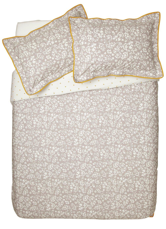 Argos Home Monochrome Floral Bedding Set - Superking