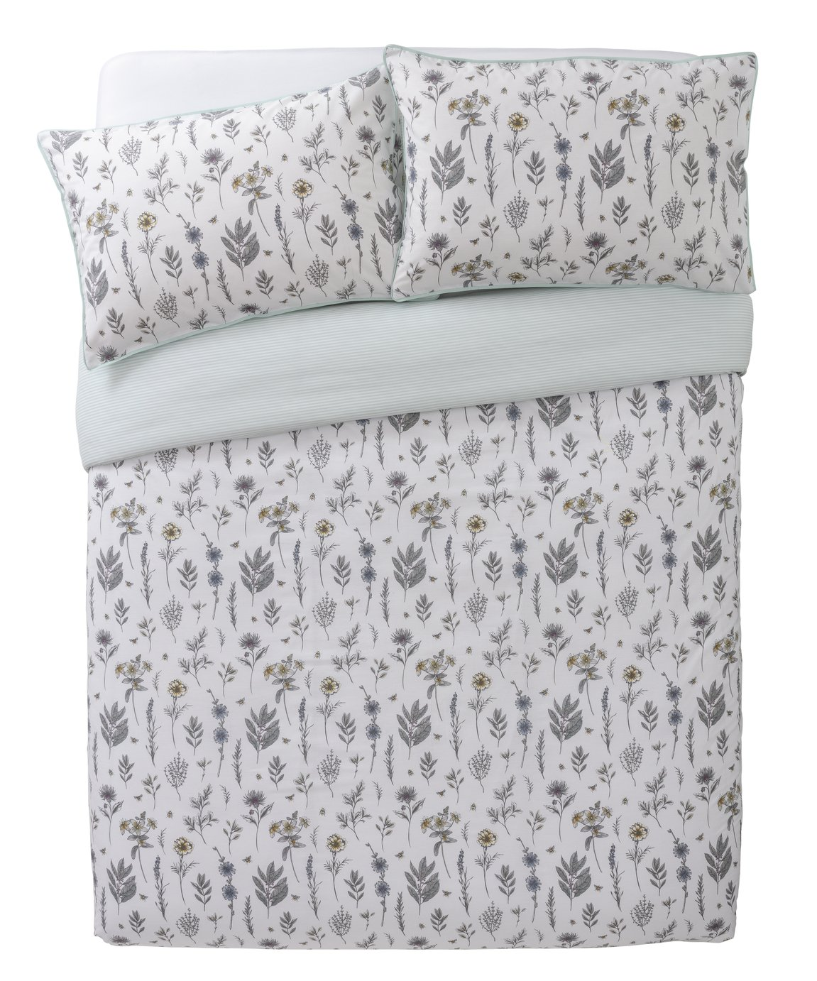 Argos Home Outline Floral Printed Bedding Set - Kingsize