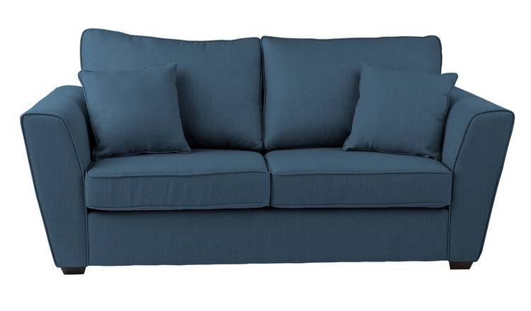 Buy Argos Home Renley 2 Seater Fabric Sofa bed - Blue | Sofa beds | Argos