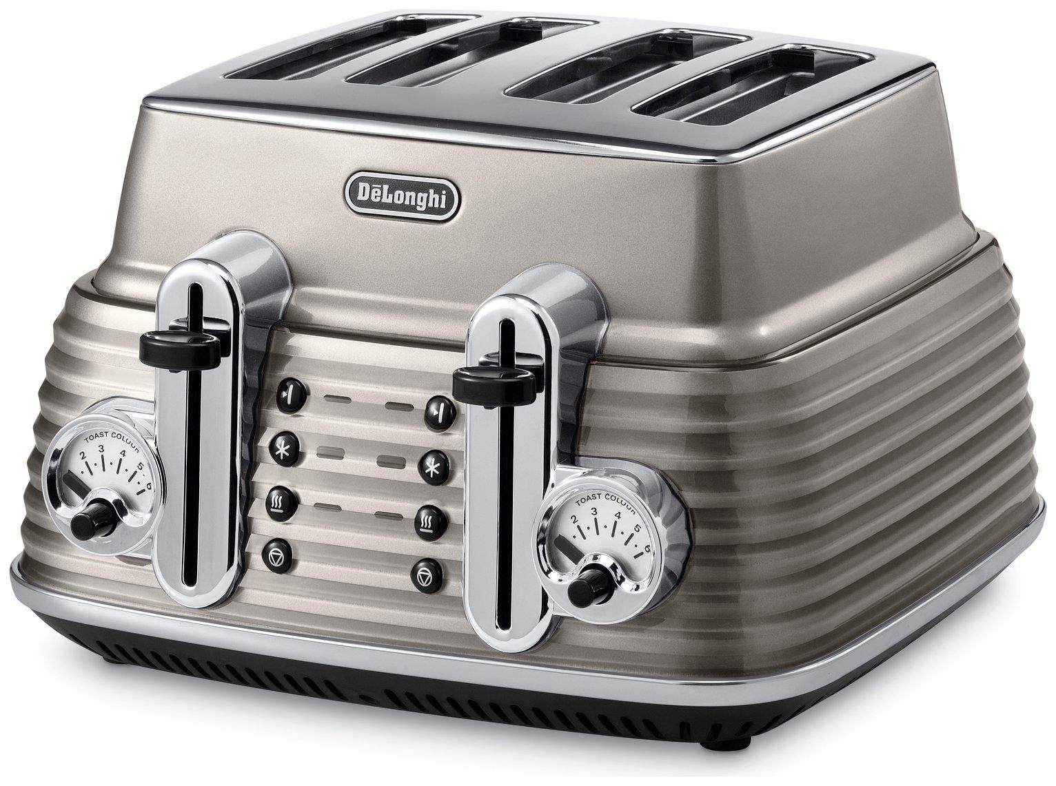 DeLonghi Scultura 4 Slice Toaster - Champagne