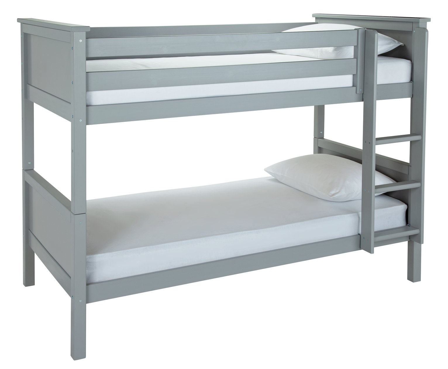 Argos Home Brooklyn Grey Bunk Bed & Kids Mattress