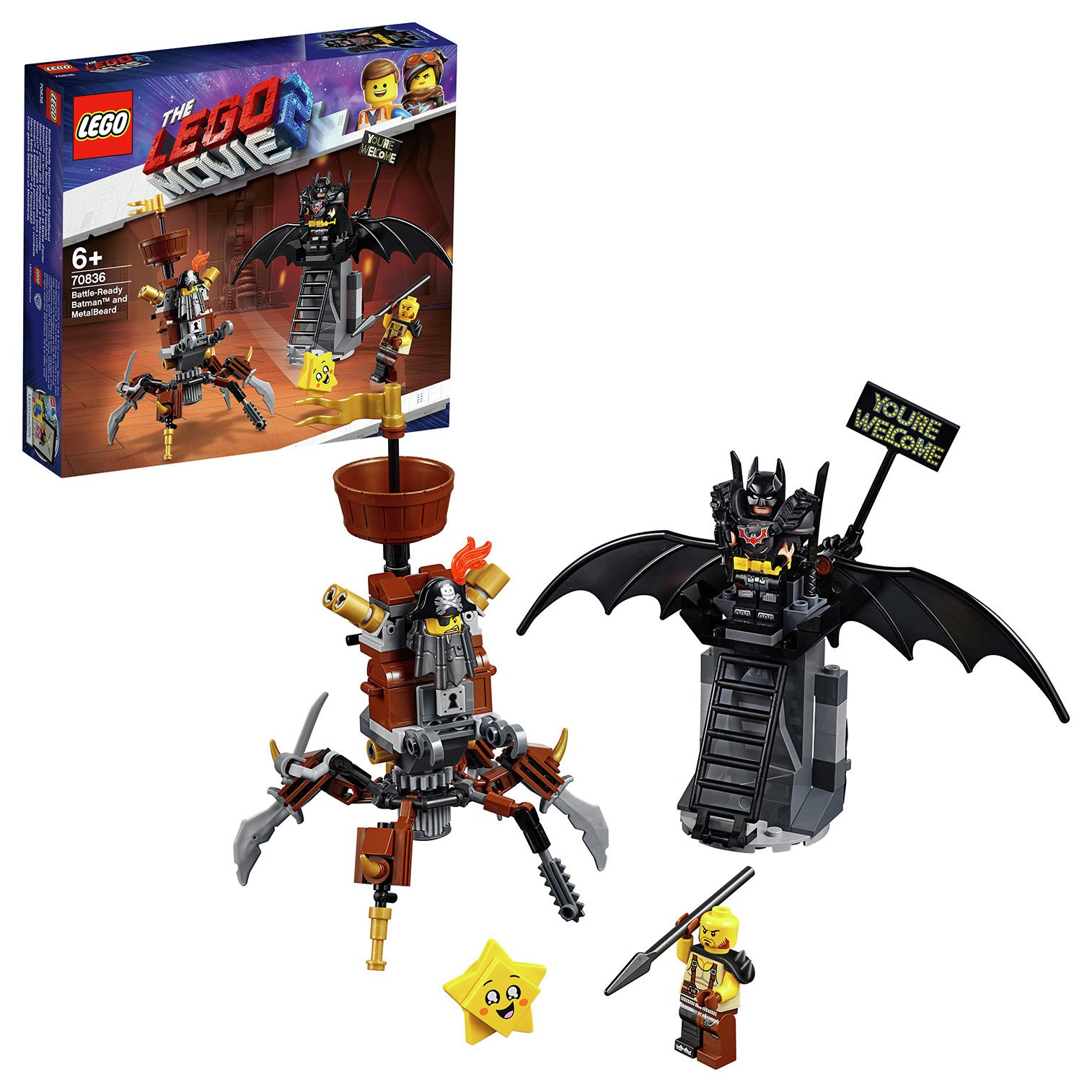 LEGO Movie 2 Battle-Ready Batman & MetalBeard Playset- 70836