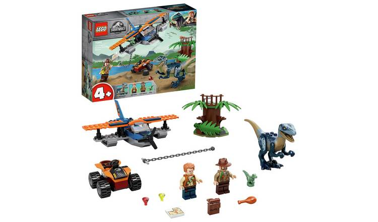 LEGO Jurassic World 4+ Velociraptor Biplane Rescue Set 75942