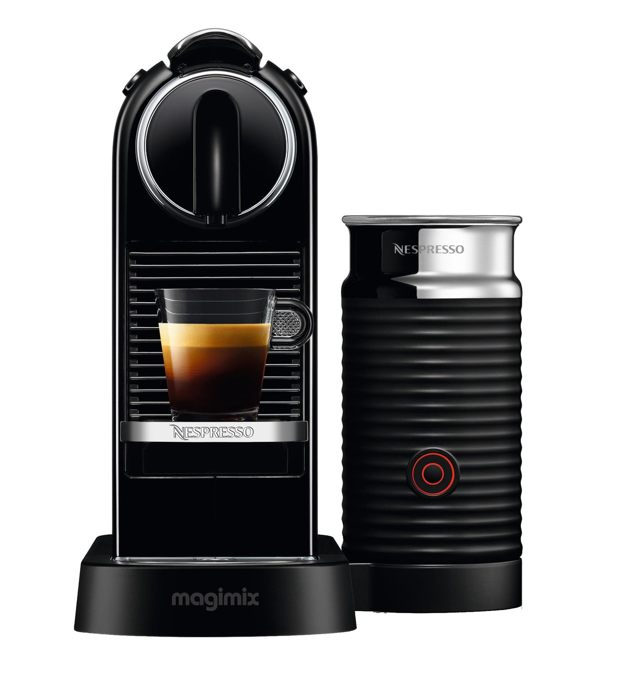 Nespresso by Magimix Citiz Pod Coffee Machine Bundle - Black