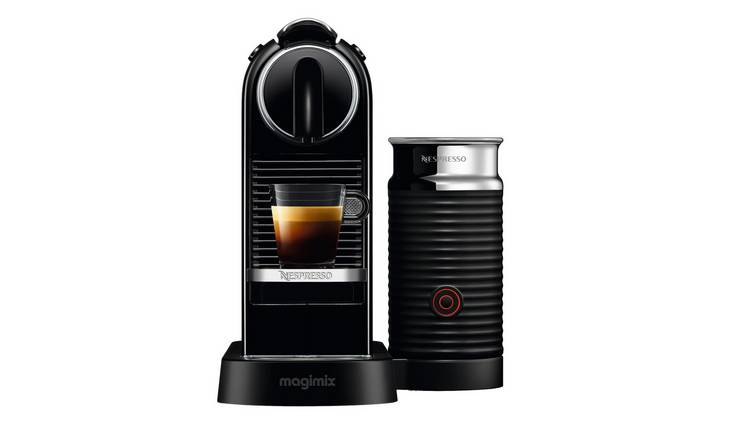 Nespresso Citiz Pod Coffee Machine Bundle by Magimix - Black