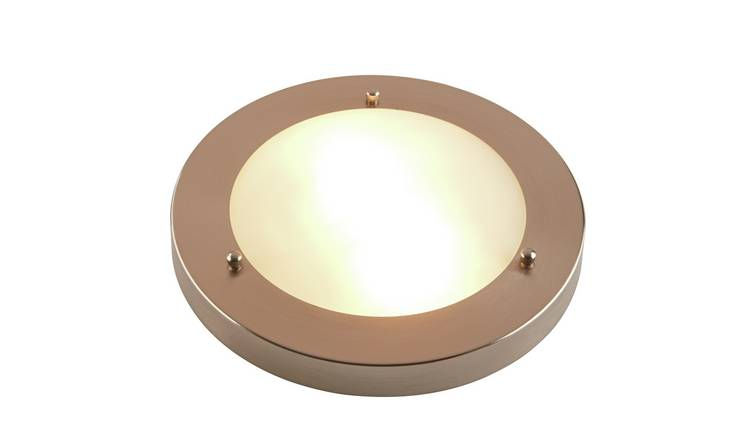 Argos Home Chrome Flush Bathroom Ceiling Light