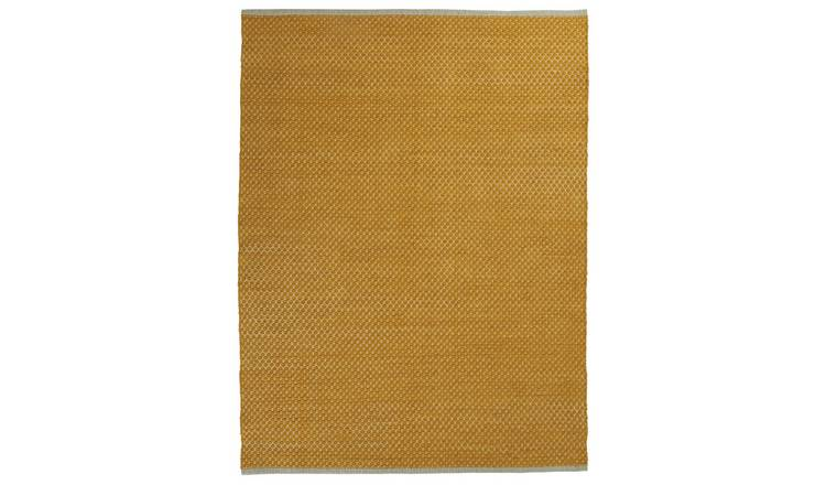 Argos Home Global Diamond Flatweave Rug - 120x160 - Mustard