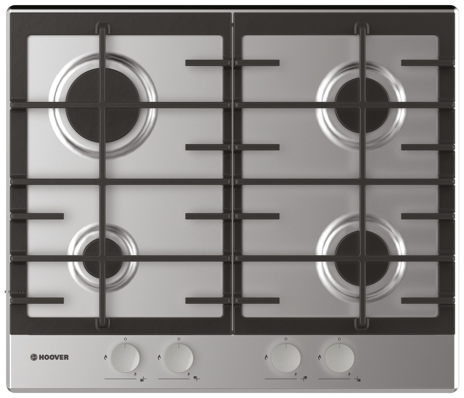 Hoover HHG6BRSX Gas Hob - Stainless Steel