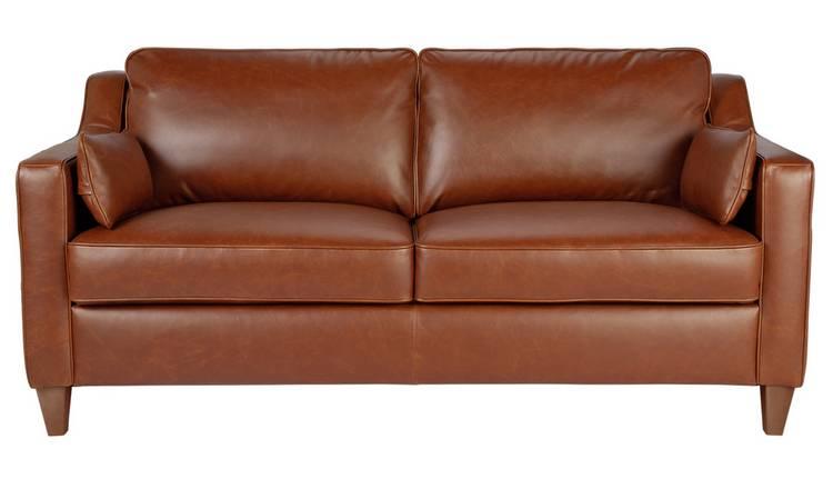 Amazing Buy Argos Home Drury Lane 3 Seater Leather Sofa Tan Sofas Argos Home Interior And Landscaping Ponolsignezvosmurscom