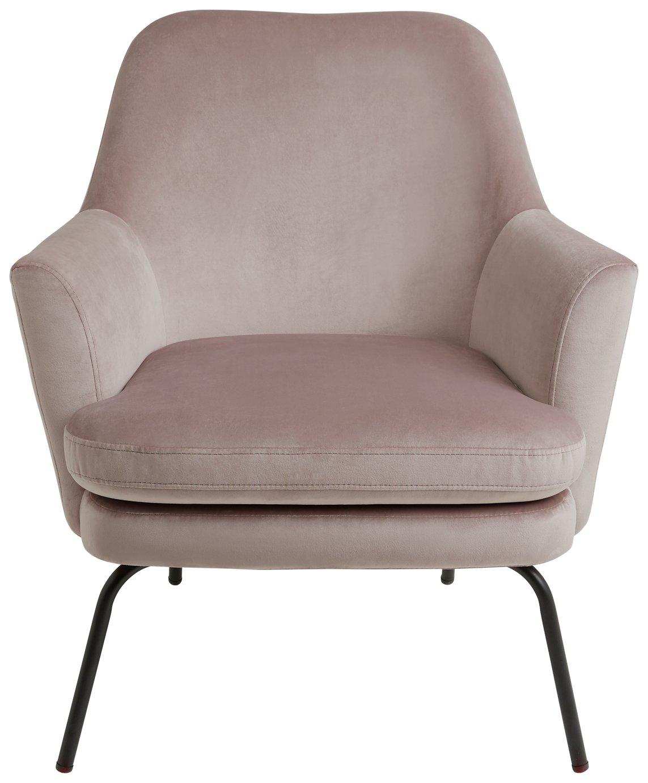 Habitat Celine Velvet Accent Chair - Pink