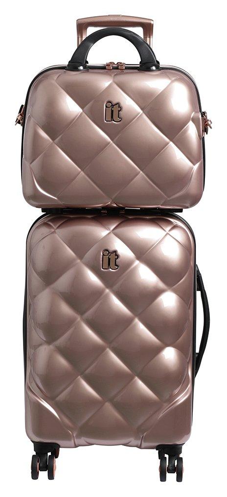 it Luggage 8 Wheel Hard Cabin Suitcase & Vanity Set