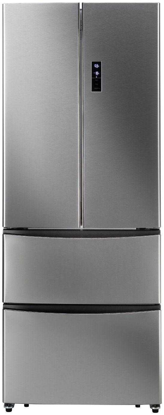 Hoover HMN7182XK American Fridge Freezer - Stainless Steel Best Price, Cheapest Prices