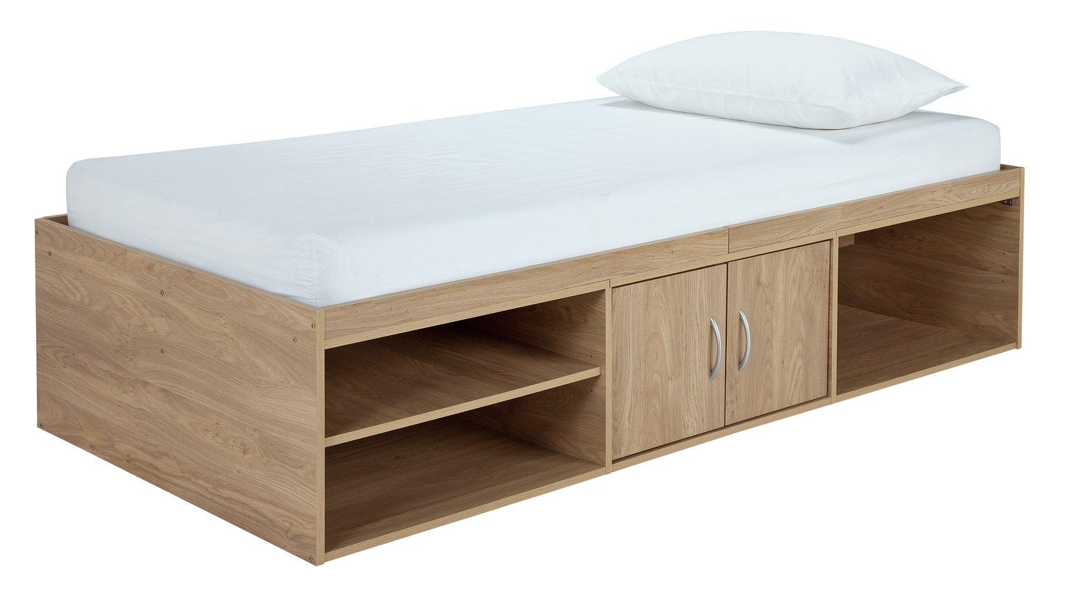 Argos Home Freddie Oak Effect Cabin Bed & Kids Mattress