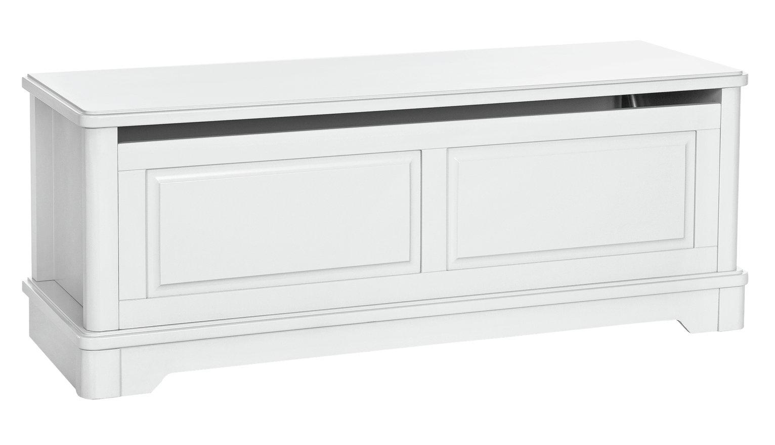 Argos Home Ashbourne Blanket Box - Soft White