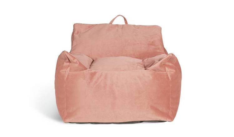 Fine Buy Argos Home Velvet Beanbag Blush Pink Bean Bags Argos Caraccident5 Cool Chair Designs And Ideas Caraccident5Info