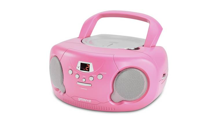 Groov-e Boombox CD Player with Radio - Pink