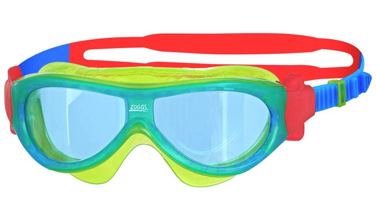 Zoggs Phantom Kid's Mask Swimming Goggles - Green and Blue