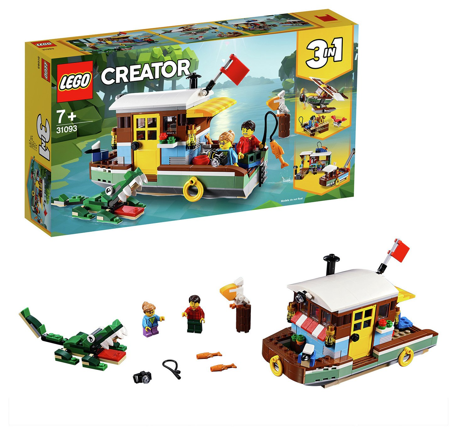 LEGO Creator 3-in-1 Riverside Houseboat Building Kit - 31093