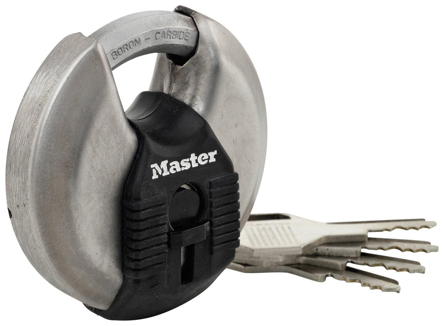Master Lock Stainless Steel Padlock 4 Keys
