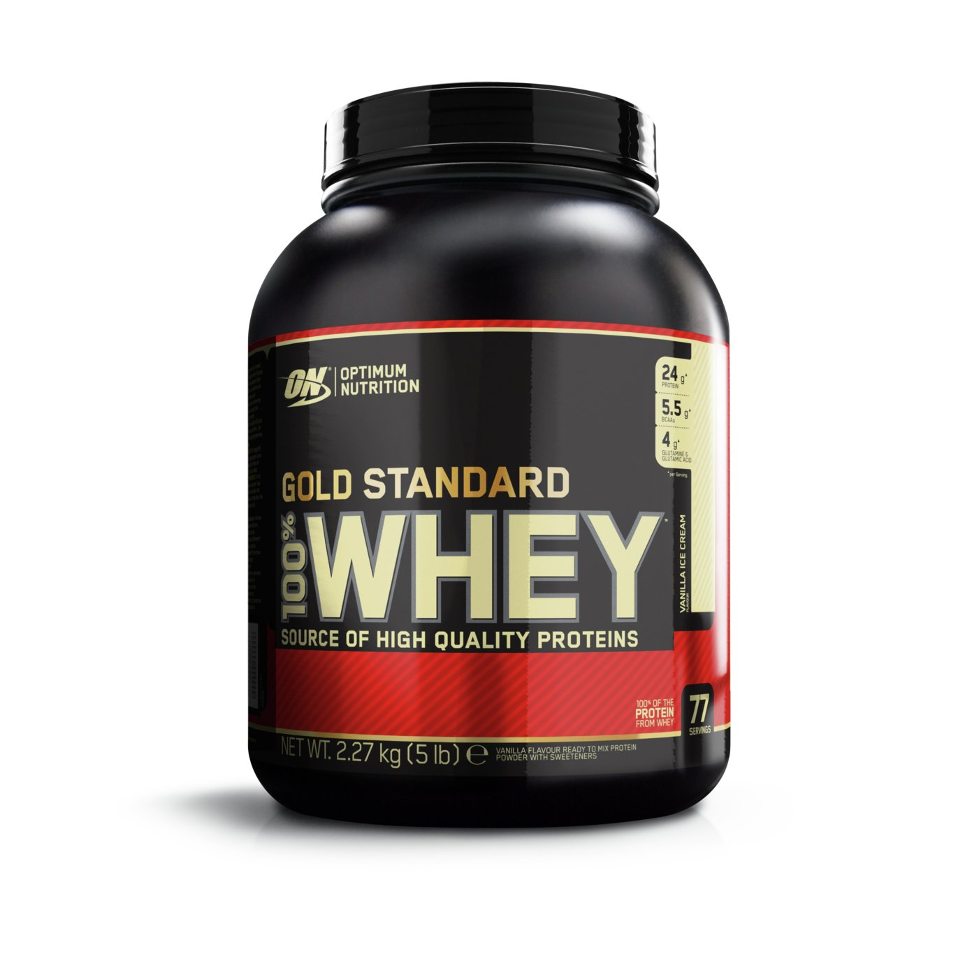 Optimum Nutrition gold Standard 100% Vanilla Whey 2.27kg