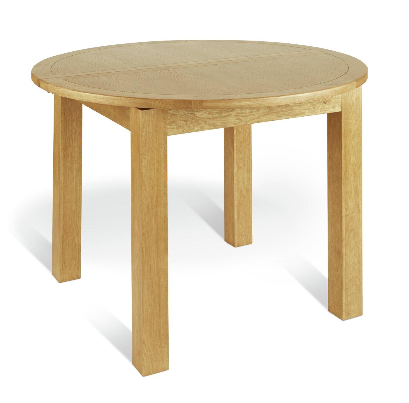 Argos Home Ashwell Extendable Circular Table - Oak Veneer