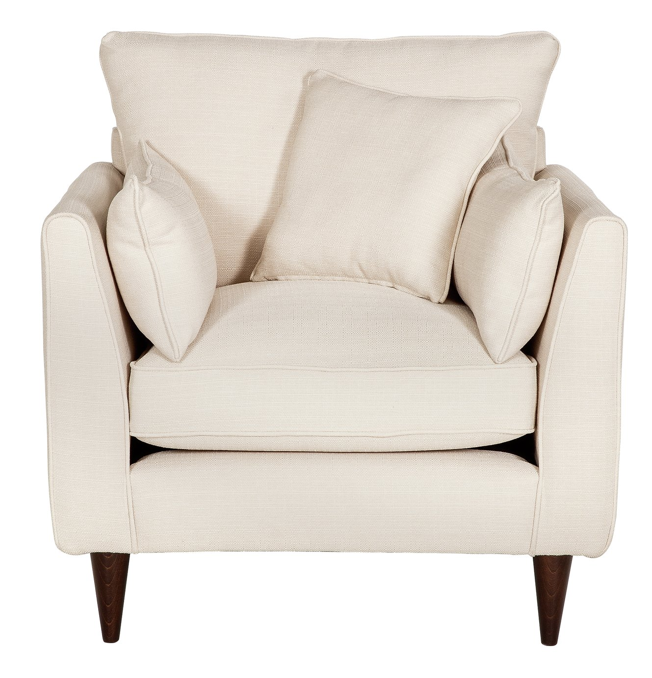 Argos Home Hector Fabric Armchair - Natural Linen