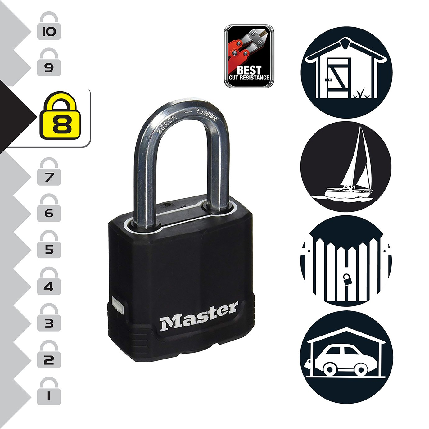 Master Lock Anti Rust Cover Padlock 4 Keys