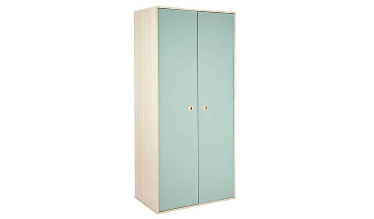 Argos Home Camden 2 Door Wardrobe - Blue & Acacia