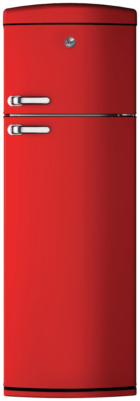 Hoover HVRDS 6172RKH Retro Fridge Freezer - Red