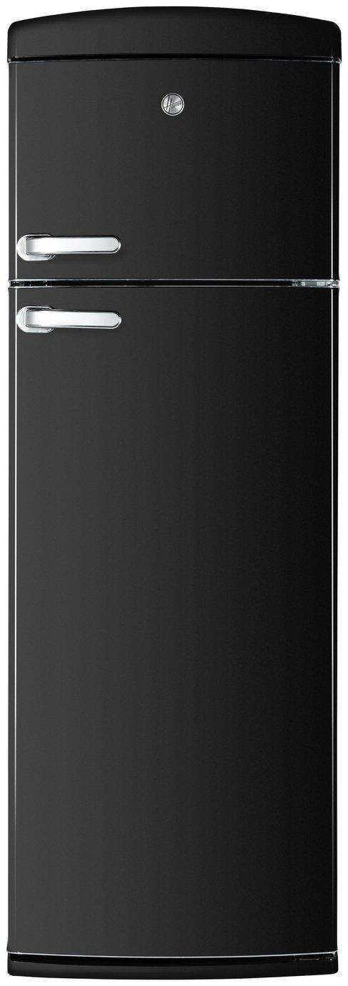 Hoover HVRDS 6172BKH Retro Fridge Freezer - Black