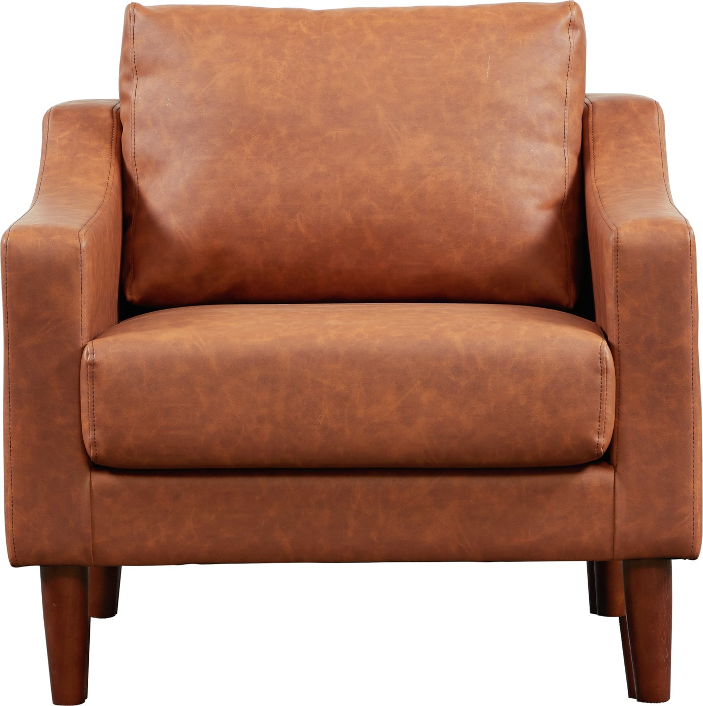 Argos Home Brixton Faux Leather Armchair - Tan