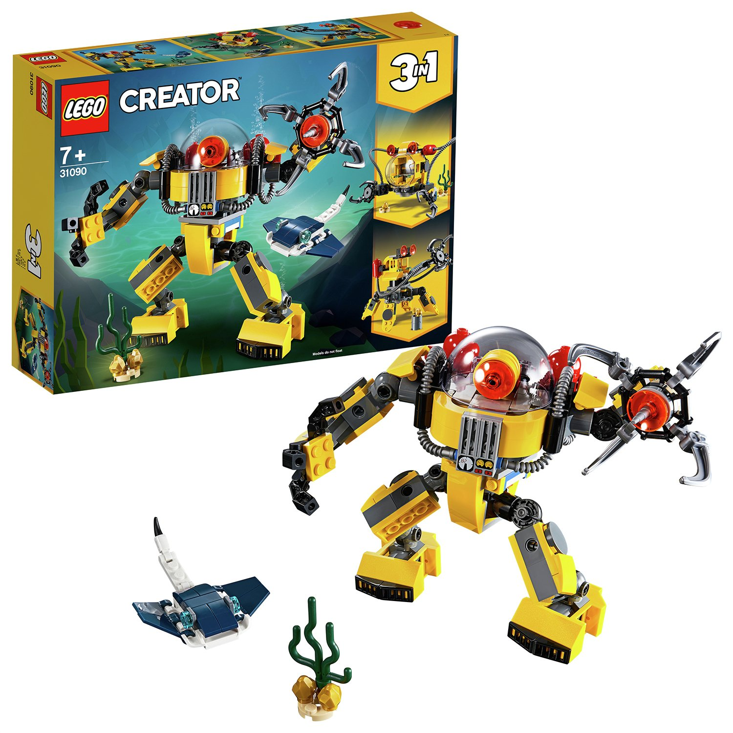LEGO Creator Underwater Toy Robot 3in1 Building Set - 31090