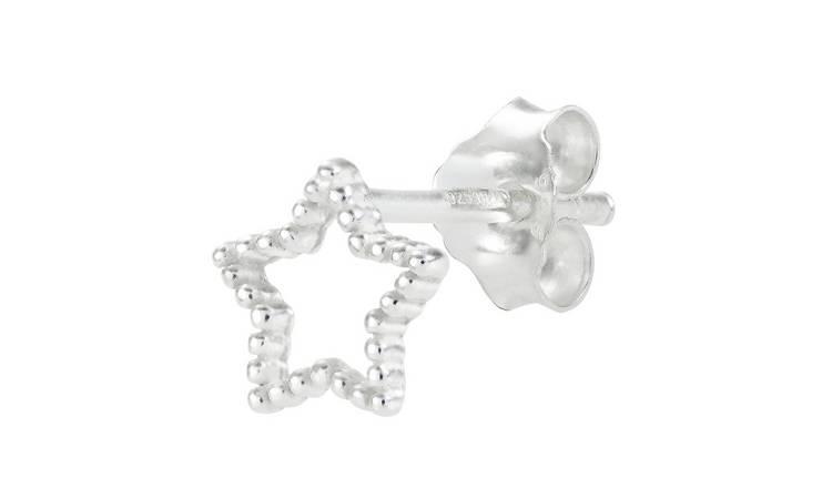 ae01fbfef Buy State of Mine Sterling Silver Star Single Stud Earring | Men's ...