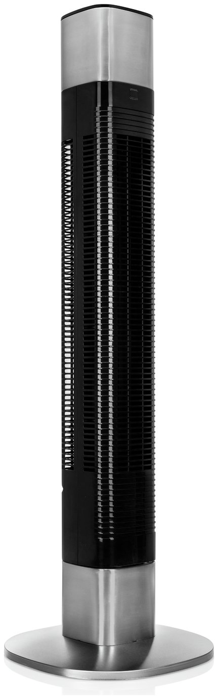 Princess Smart Black/Silver WIFI Connected Tower Fan