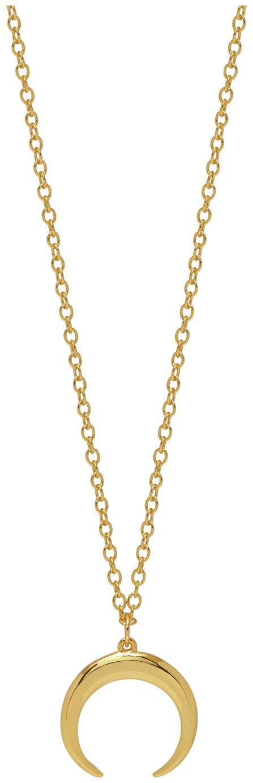 Amelia Grace Gold Colour Horn 41inch Necklace