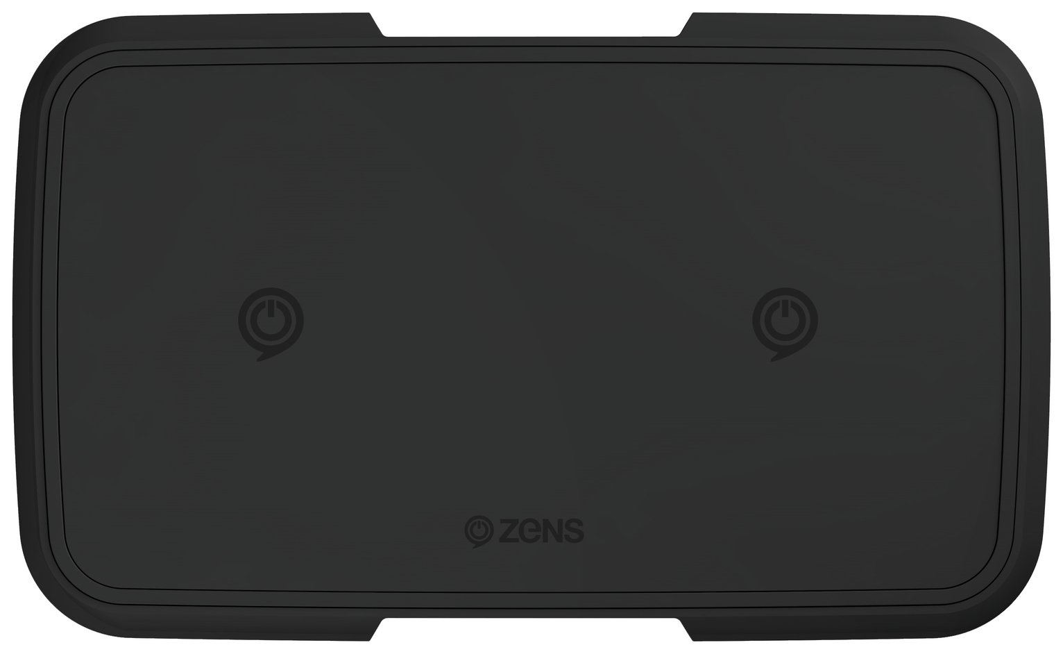 Zens Dual Watch 9000mAh Wireless Portable Power Bank - Black