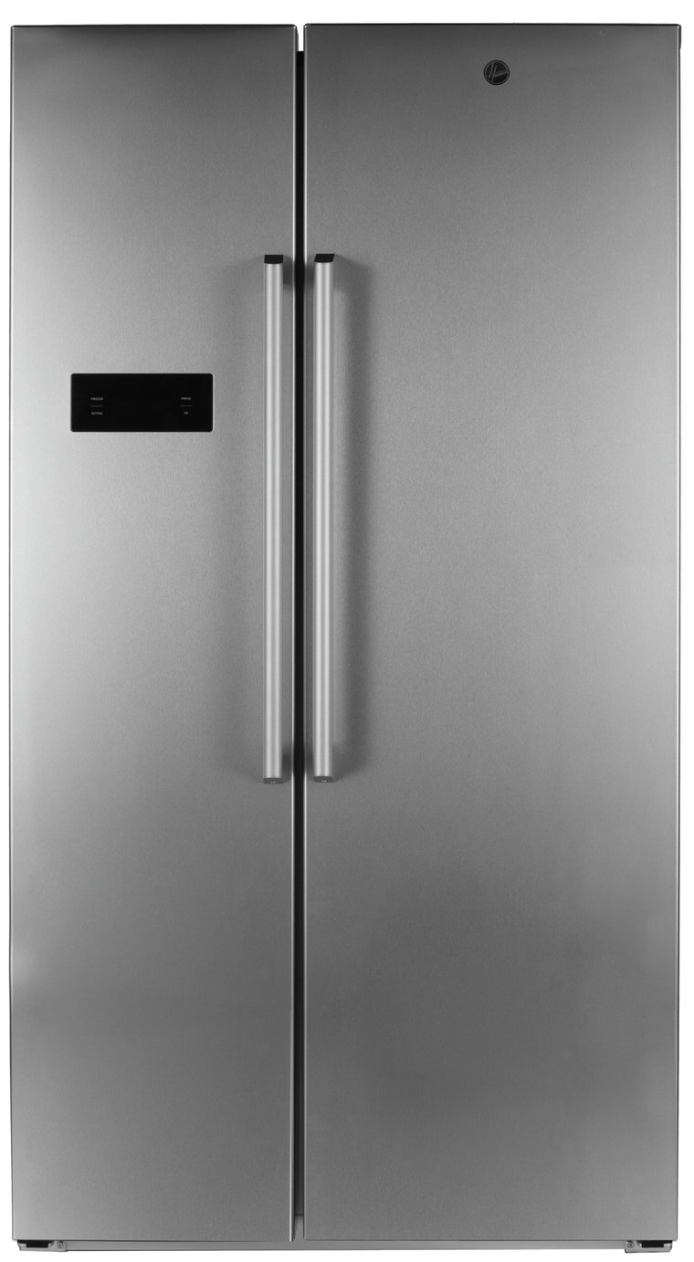 Hoover HSBSF 178XK American Fridge Freezer - Stainless Steel