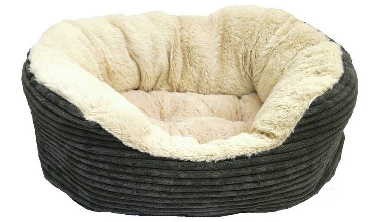 Rosewood Grey Jumbo Cord Plush Bed - Medium