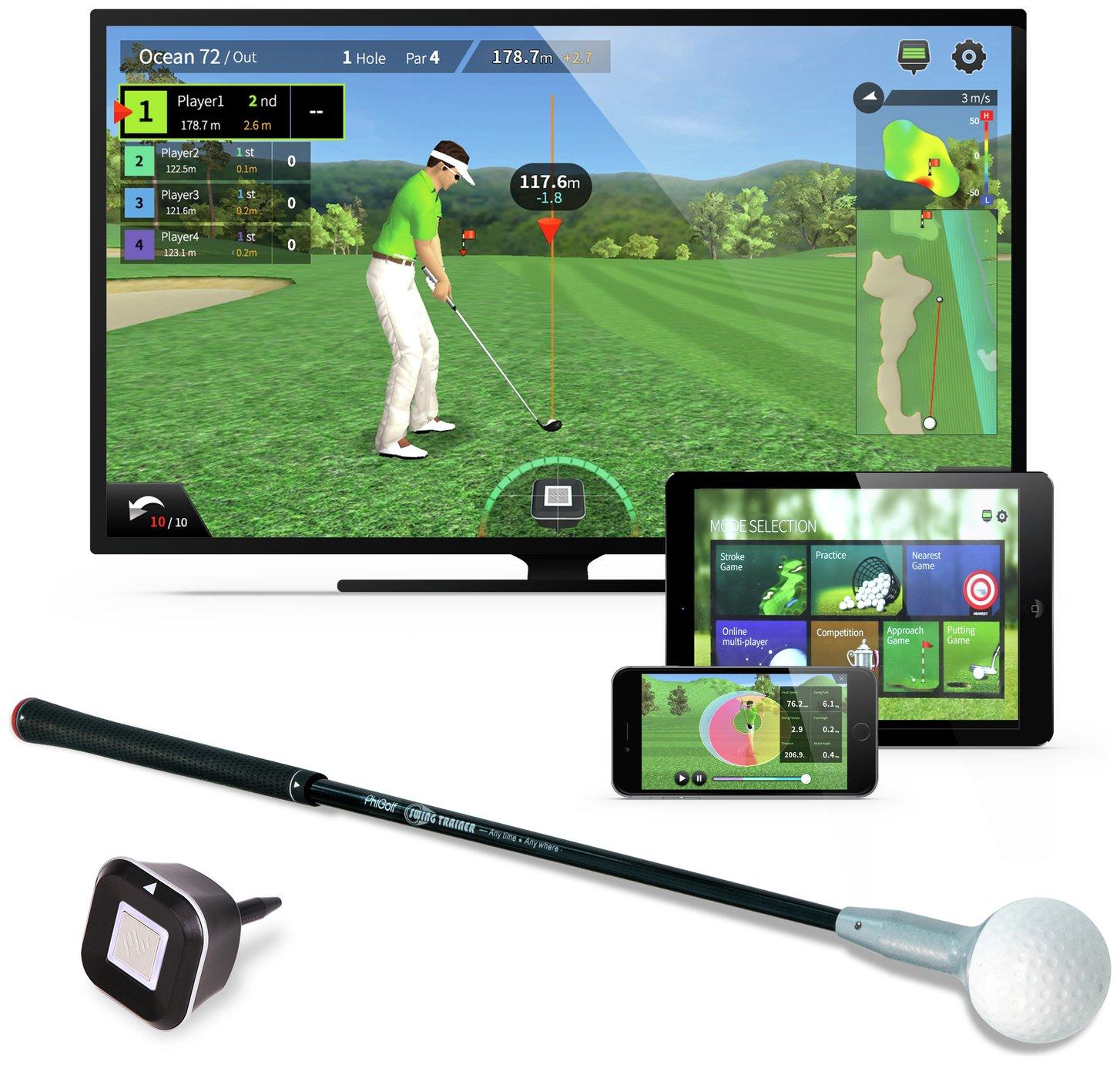 PhiGolf Game Simulator and Swing Stick