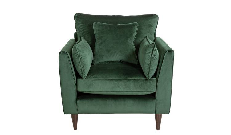 Incredible Buy Argos Home Hector Velvet Armchair Green Armchairs And Chairs Argos Machost Co Dining Chair Design Ideas Machostcouk
