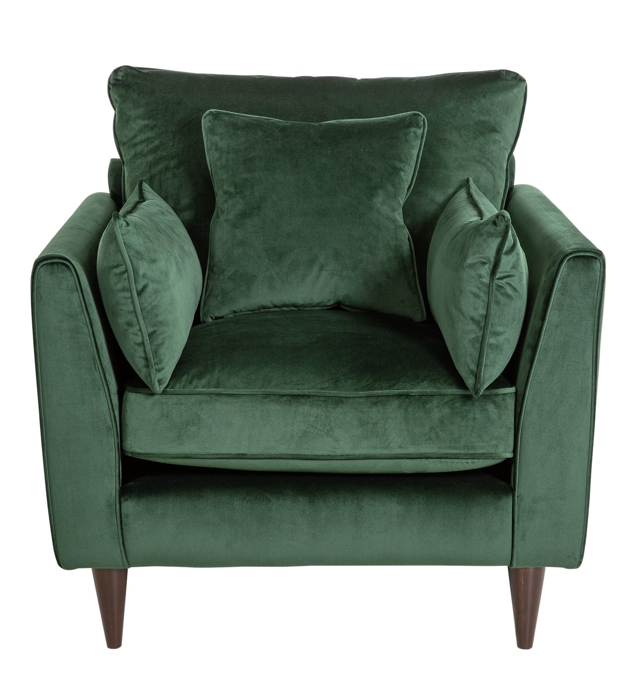 Buy Argos Home Hector Velvet Armchair   Green | Armchairs And Chairs | Argos