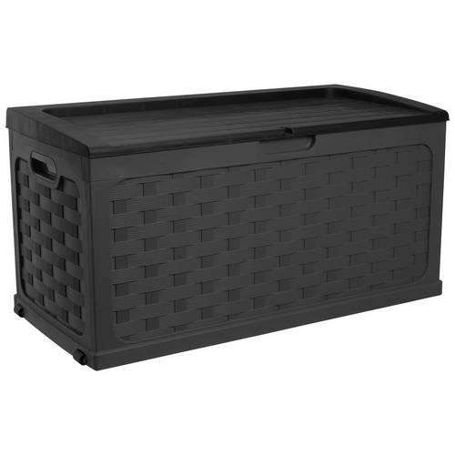 Outstanding Buy Mcgregor 280L Rattan Storage Box Black Garden Storage Boxes And Cupboards Argos Frankydiablos Diy Chair Ideas Frankydiabloscom