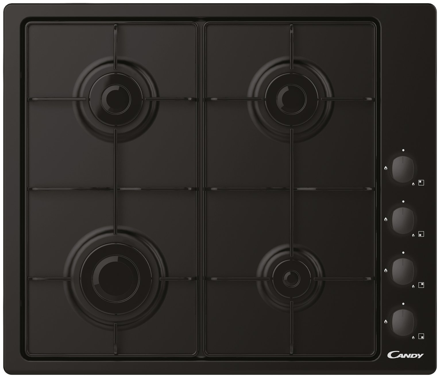 Candy CHW6LBB Gas Hob - Black