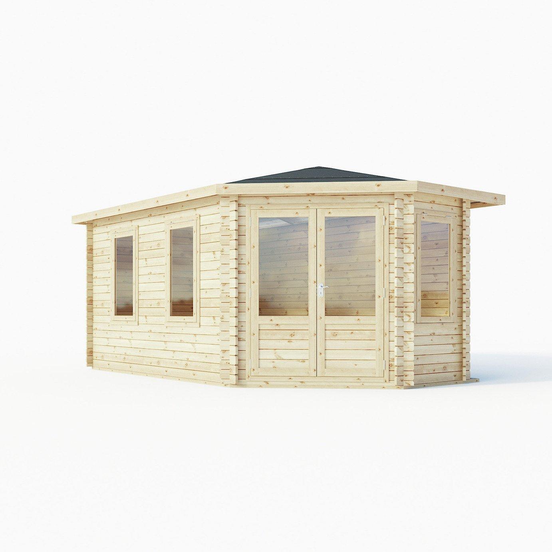 Mercia 17 x 9ft Double Glazed Corner Lodge