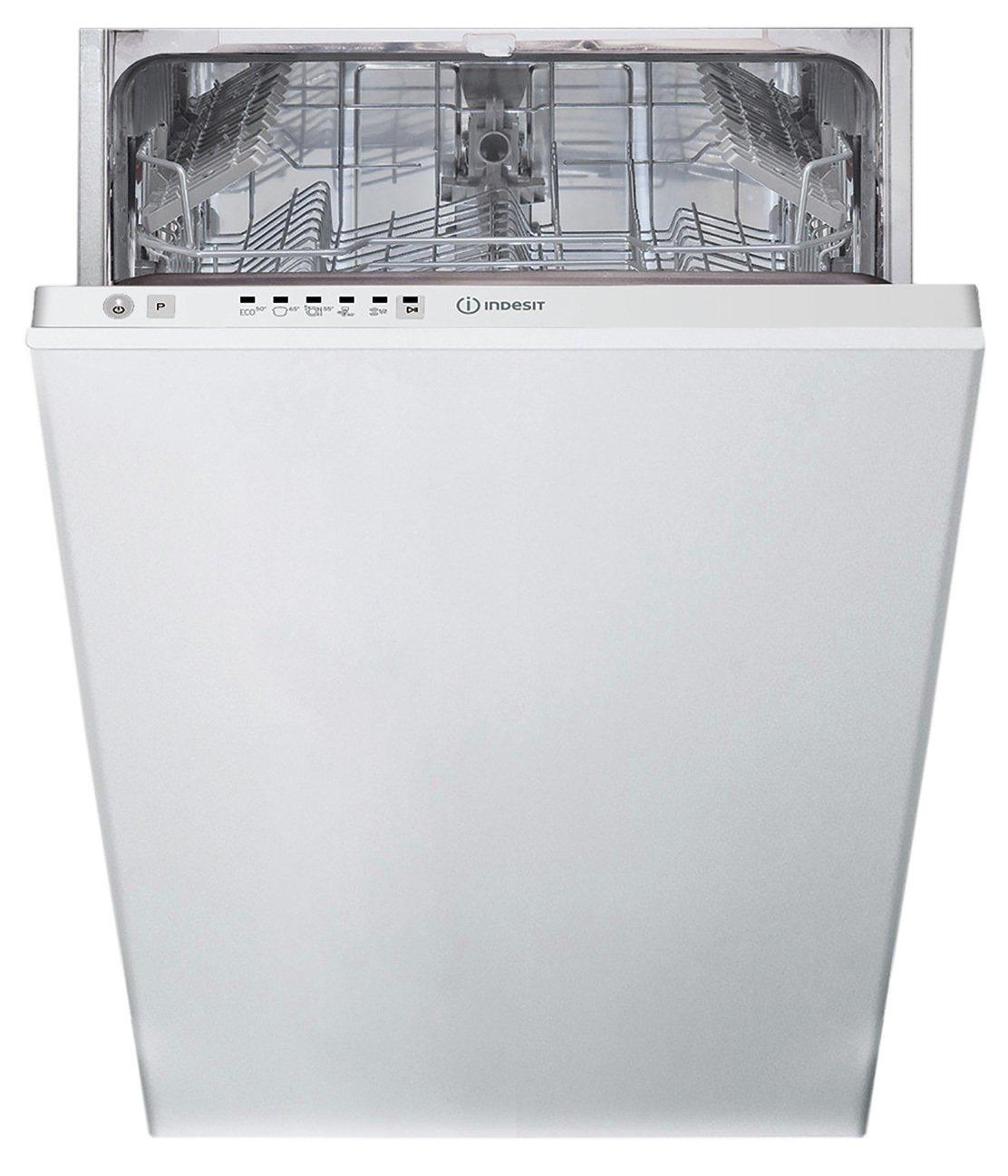Indesit DSIE2B10UK Integrated Dishwasher - Stainless Steel