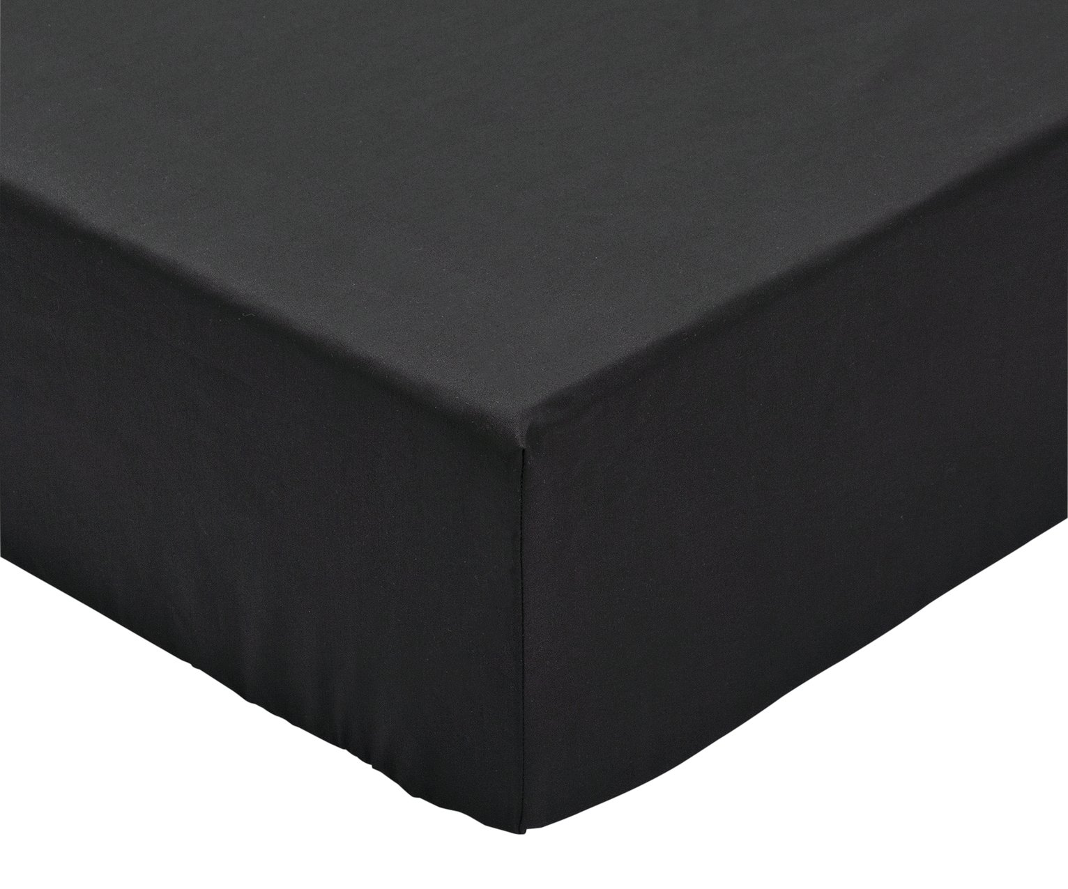 Argos Home Black Cotton Rich Fitted Sheet review
