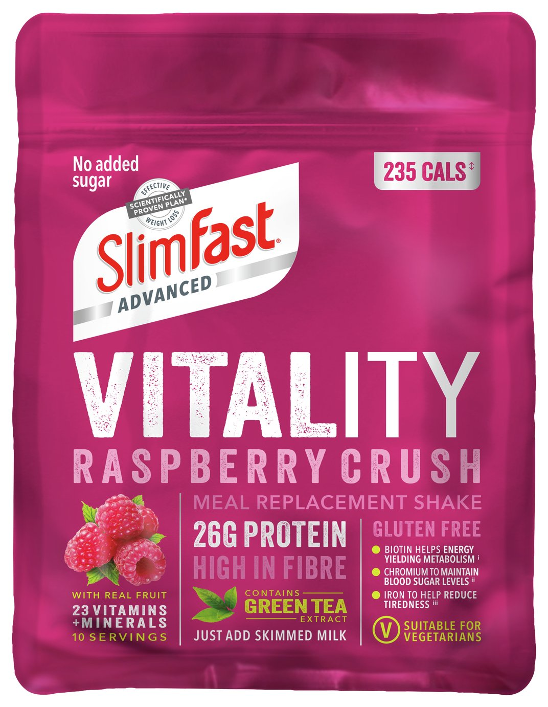 SlimFast Advanced Vitality Raspberry Crush Shakes