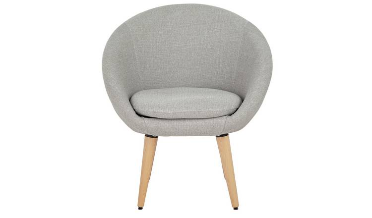 Argos Home Fabric Pod Chair - Light Grey