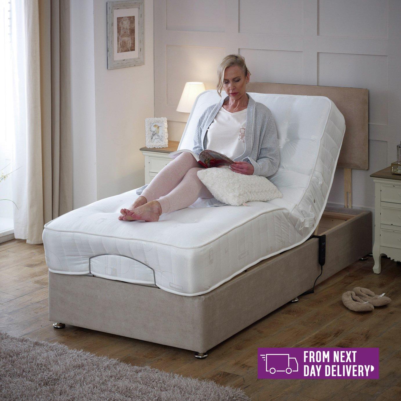 Regal Single Adjustable Bed with Pocket Sprung Mattress